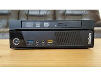 Like New Lenovo ThinkCentre M93p Tiny Form Factor PC i3 4130T 2.9GHz 4GB 500GB DVD/RW Windows 10 Pro