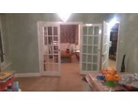 Internal french glass double doors