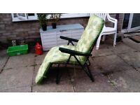 Padded folding garden/beach chair