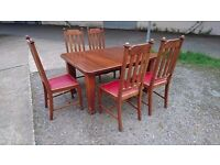 Antique Oak Table and Chairs by Joseph Fitter