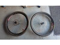 DT Swiss Wheelset, 26 Inch MTB, Includes Brake Discs and Maxxis Ignitor tyres
