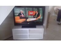 Sony Bravia 42ins flat screen TV and white unit