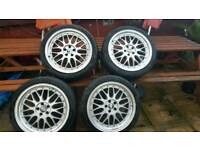 BBS LM'S reps with very good tyres 18 inch