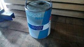 valspar 5l tin black gloss paint interior wood metal