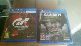 For sale call of duty wwii and gran turismo sport