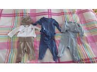 Tiny baby boy clothes bundle