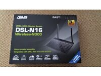 *** VDSL/ADSL Modem Router DSL-N16 Wireless –N300 - As New Never Been Used ***