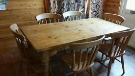 Rustic Oak Table and Chairs