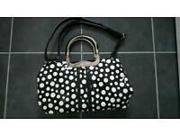 Black and white handbag