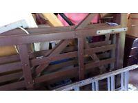 2 x 6ft Sturdy Heavy Wooden Farm Gates for sale. Good condition. near Wickford Essex