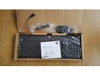 Brand New HP USB Keyboard KU-1156 672647-033 And HP 672652-001 USB Mouse