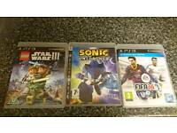 PS3 GAMES, Star wars, Sonic, Fifa 14