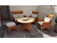 Wicker Garden Table and Chairs - Full set