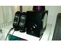 Logitech sub with speakers