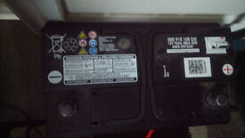 original VW battery 12v 72ah 640a