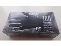 Supertouch 100 Strong Black Latex Powder Free Disposable Gloves Medium BRAND NEW UNOPENED
