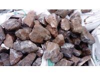 Granite rockery or gabion stone bulk bag