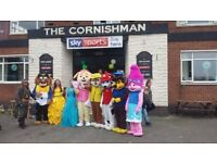 mascot costumes in derby