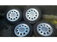Audi 5 stud alloy wheels