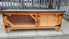 RABBIT HUTCH PENT 3 FT W X 15 INCH D