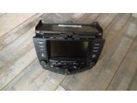 Honda accord 04/07 sat nav - 6 disc CD changer, radio am/FM unit