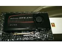 EVGA GTX 470 Video Card - 1280MB GDDR5 - Very Good Condition