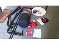 BBE boxing station with punch bag and speedball (and other accessories)