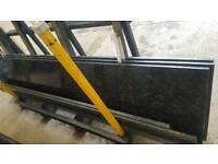 Granite worktop steel grey