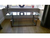 Modern Glass and Chrome TV Stand - High Quality