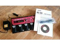 BOSS RC50 LOOP STATION - LOOPER DELAY EFFECTS PEDAL - Almost Like New!!!