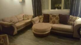 Sofa and cuddle seat good condition £100 quick sale