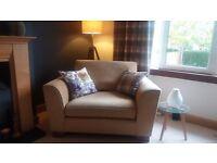 Marks & Spencer Loveseat/small sofa gold colour