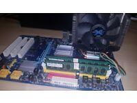 Gigabyte GA-P31-S3G + Intel Core 2 Quad 9500 4x2.8 Ghz + Zalman CU + 4GB Dual 6400 (800Mhz) 100% OK