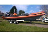 Humber Ocean Pro 8m (2006) Rib Suzuki DF250 outboard and trailer