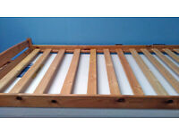 Pine Stacked Bed (single, 3ft/90cm wide) with foam mattress