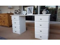 Solid pine dressing table painted white and waxed. Lots of storage.