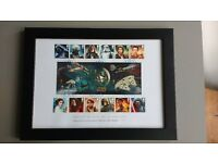 Star Wars framed first day of issue stamp set, dated October 2015