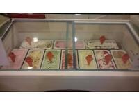 Slant 510 Ice Cream Freezer With Under Storage
