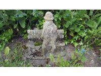 Garden Statue Figure - Man Sitting on Bench 43cm x 36cm