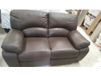 WINTER SALE LAST ONE AVAILABLE Brand New Premium Recliner Nicole Leather 2 Seater Sofa