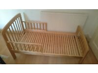 John Lewis kids wooden bed frame.
