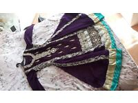 Indian/Pakistani Anarkali Dress - Purple (Hardly used and in good condition)