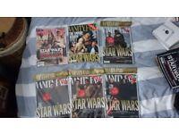 UK Vanity Fair Star Wars Cover Magazines x 6