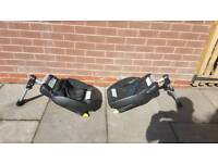 2 x Maxi-Cosi Cabriofix infant car seat and bases