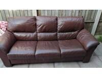 Big brown sofa