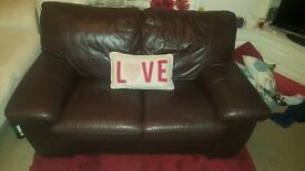 £150.00 ONO 2 x 2 Seater Leather Couches / Sofa's for sale.