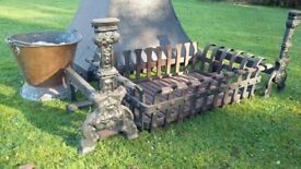 Wrought iron fireplace items