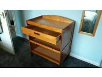 Baby pine changing table