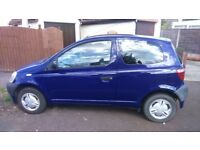 Toyota Yaris 1.0L 1999, 88009 miles. 1 yr MOT, comes with full tank of fuel.