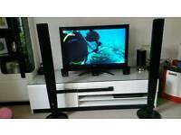 "Toshiba 37"" tv with Lg home cinema"